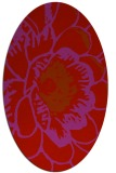 rug #655429 | oval pink rug
