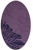 rug #657033 | oval purple rug