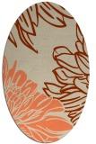 rug #657133 | oval orange rug