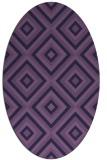 rug #662313 | oval blue-violet rug