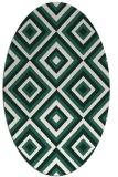 rug #662349 | oval blue-green rug