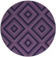 rug #663017 | round blue-violet rug