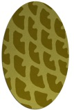 rug #664297 | oval light-green rug
