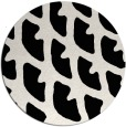 rug #664685 | round black abstract rug