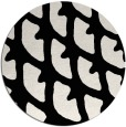rug #664953 | round black abstract rug
