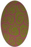 rug #667825 | oval light-green rug
