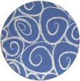 rug #668241 | round blue rug