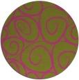 rug #668529 | round light-green rug