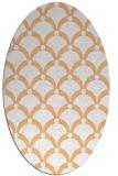 rug #669517 | oval red-orange rug