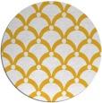 rug #670249 | round yellow rug
