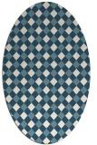 rug #671042 | oval check rug