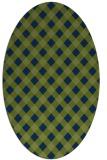 rug #671054 | oval check rug