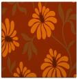 rug #674441 | square red-orange rug