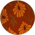 rug #675497 | round red-orange rug