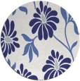 rug #675521 | round blue rug
