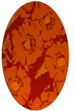 rug #676541 | oval red rug