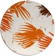 rug #682549 | round red-orange rug