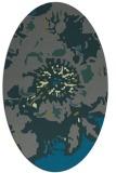 rug #688745 | oval blue-green rug