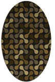 rug #692253 | oval mid-brown rug