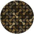 rug #692957 | round black rug