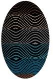 rug #695673 | oval brown rug