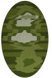 rug #697541 | oval green rug