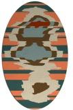rug #697613 | oval orange rug