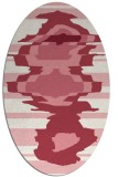 rug #697632 | oval graphic rug