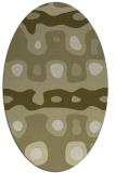 rug #701261 | oval light-green rug