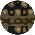 rug #701757 | round black abstract rug