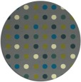rug #710569   round blue-green rug