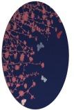 rug #713349 | oval blue-violet rug