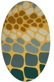 rug #715321 | oval light-orange rug