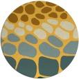 rug #716025 | round yellow rug