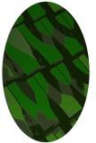 rug #725645 | oval green rug