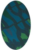 rug #725657 | oval blue-green rug
