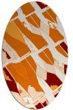 rug #725769 | oval orange rug