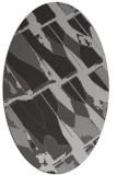 rug #725777 | oval red-orange rug