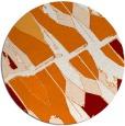 rug #726473 | round orange rug