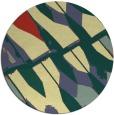 rug #726485 | round blue-green rug