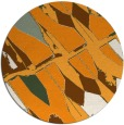 rug #726625   round light-orange rug