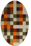 rug #727653 | oval orange rug