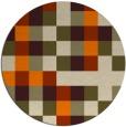 rug #728357 | round orange rug