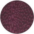 rug #731785   round purple rug