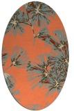 rug #732813 | oval orange rug
