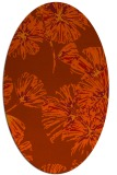 rug #732863 | oval graphic rug
