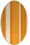 rug #734721 | oval light-orange rug