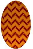 rug #739845 | oval red-orange rug