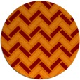 rug #740549 | round red-orange rug