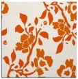 rug #741333 | square red-orange rug